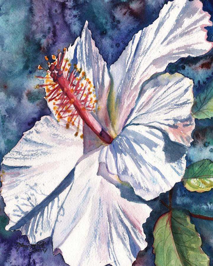 Hibiscus Painting - Native Hawaiian Hibiscus by Marionette Taboniar