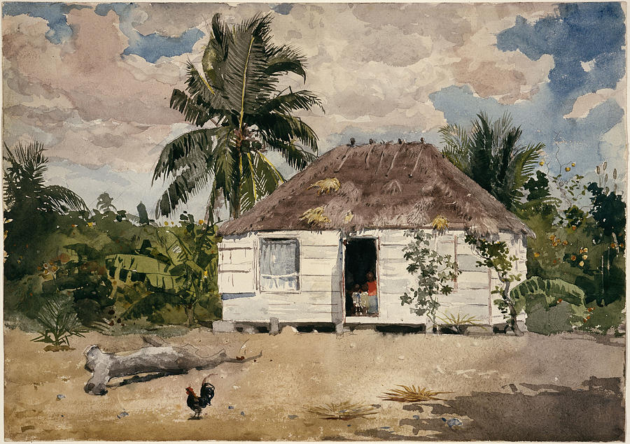 Native Huts Painting