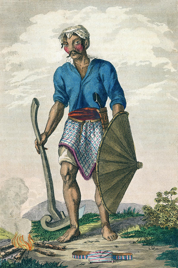 Native Indonesian Farmer From Java by Mary Evans Picture Library
