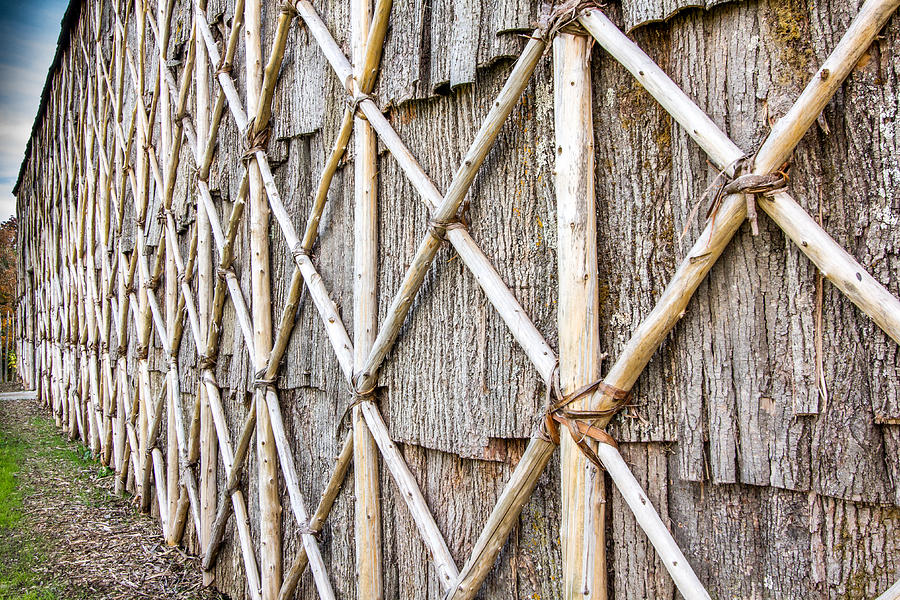 Longhouses Photograph - Native Longhouse by Nick Mares