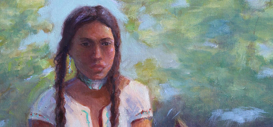 Portraits Painting - Native Maiden by Gwen Carroll