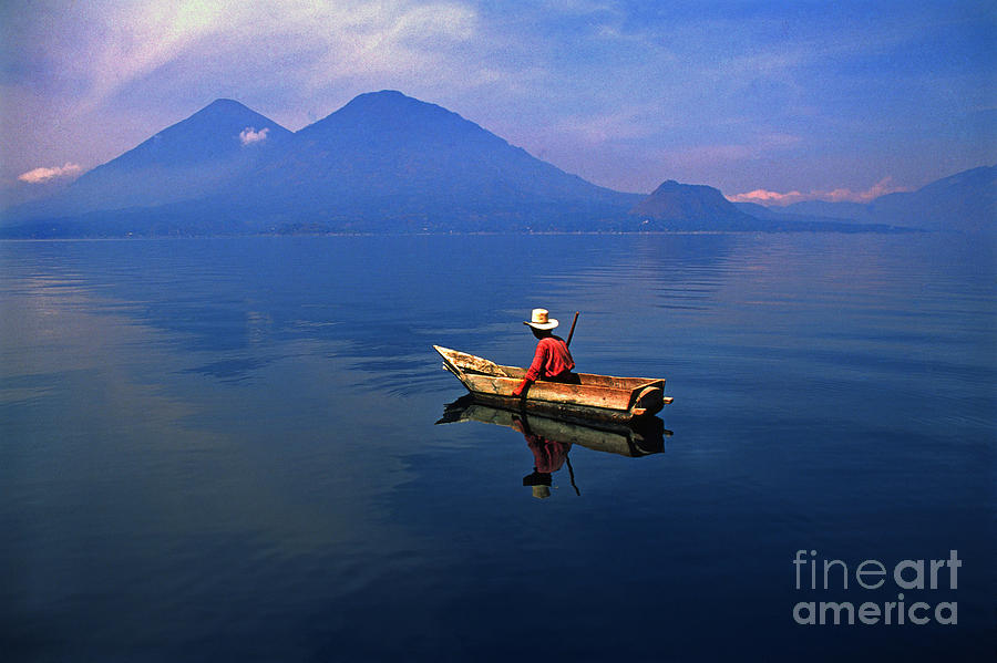 Native Photograph - Native Mayan Fisherman On Lake Atitlan by Thomas R Fletcher