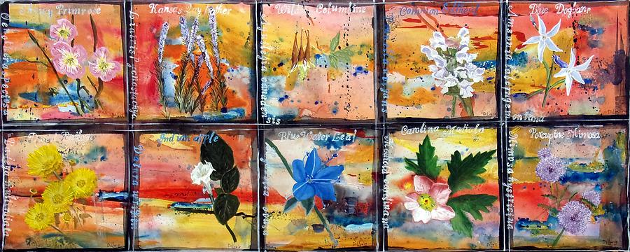 Series Painting - native Texas wildflowers B by Michael Dillon