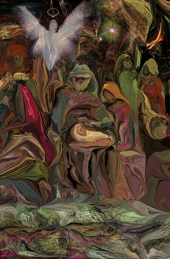 Abstract Digital Art - Nativity 1113 by David Lane