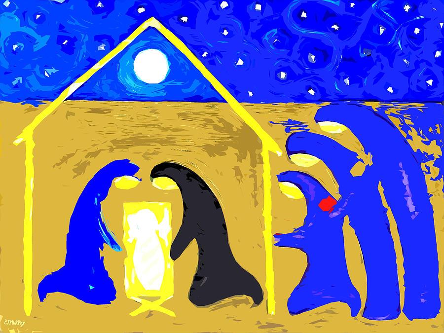 Christmas Painting - Nativity 2 by Patrick J Murphy