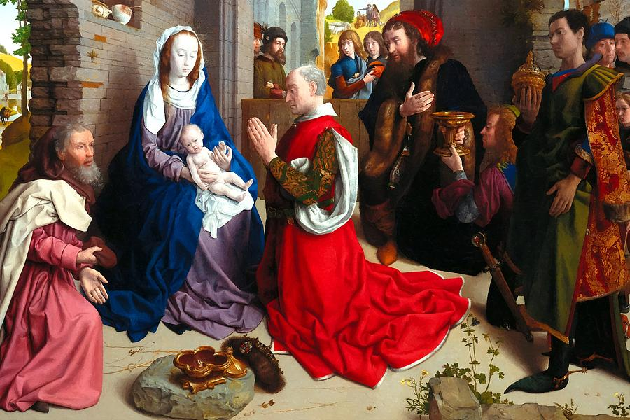 Albrecht Photograph - Nativity And Adoration Of The Magi by Munir Alawi