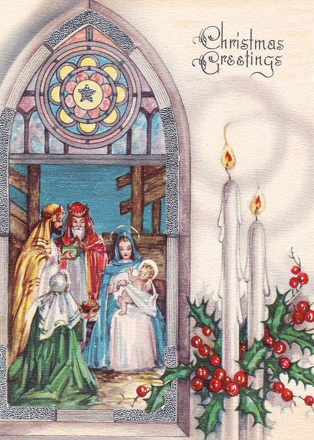 Nativity Photograph - Nativity And Candles by Munir Alawi