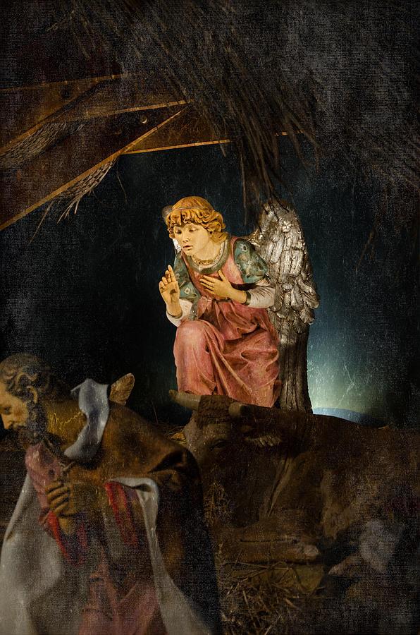 Angel Photograph - Nativity Angel  by Susan  McMenamin