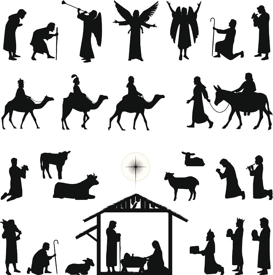 Nativity Drawing by Chipstudio