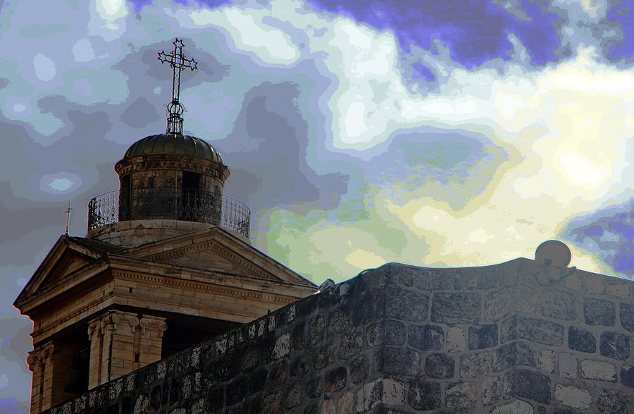 Nativity Cross Photograph
