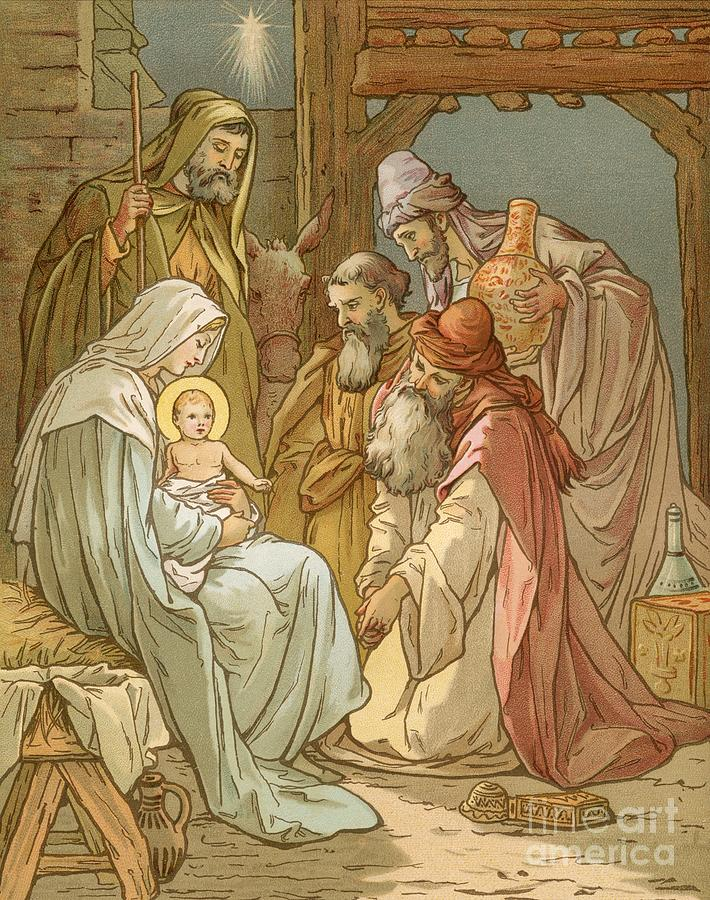 3 Painting - Nativity by John Lawson