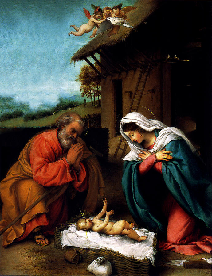 Nativity by Lorenzo Lotto