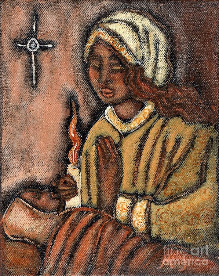 Christmas Painting - Nativity by Maya Telford