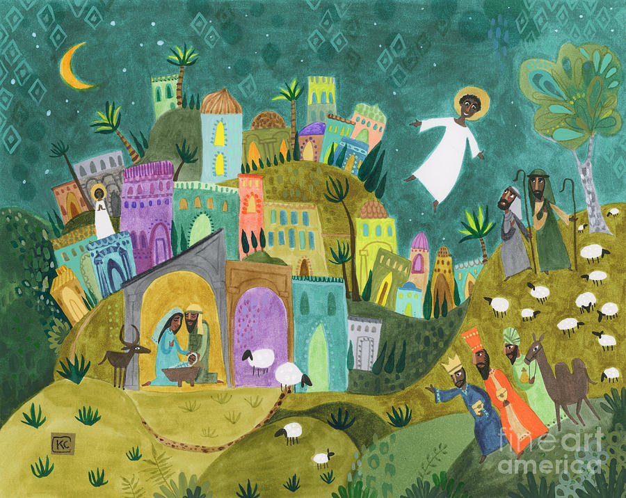 Nativity Painting - Nativity Three by Kate Cosgrove