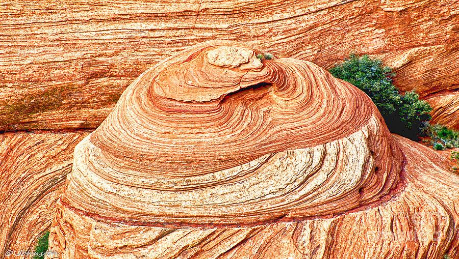 Canyon De Chelly Navajo Tribal Park Photograph - Natural Abstract Canyon De Chelly by Bob and Nadine Johnston