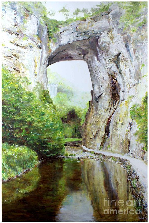 Natural Bridge Painting - Natural Bridge by J Luis Lozano