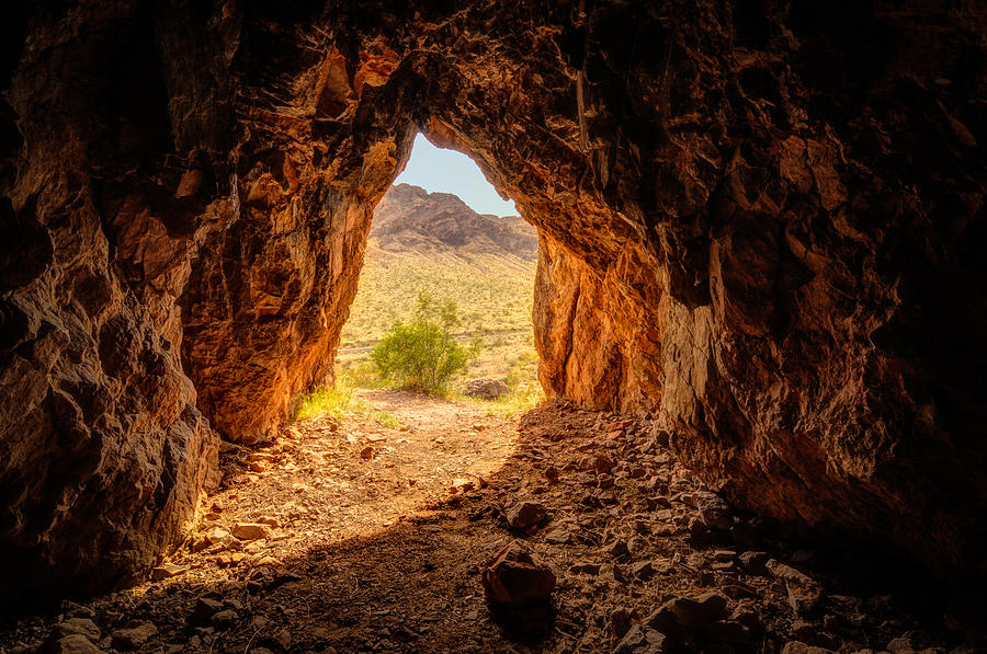 America Photograph - Natural Cave Above The Valley Of Fire by Rich Leighton