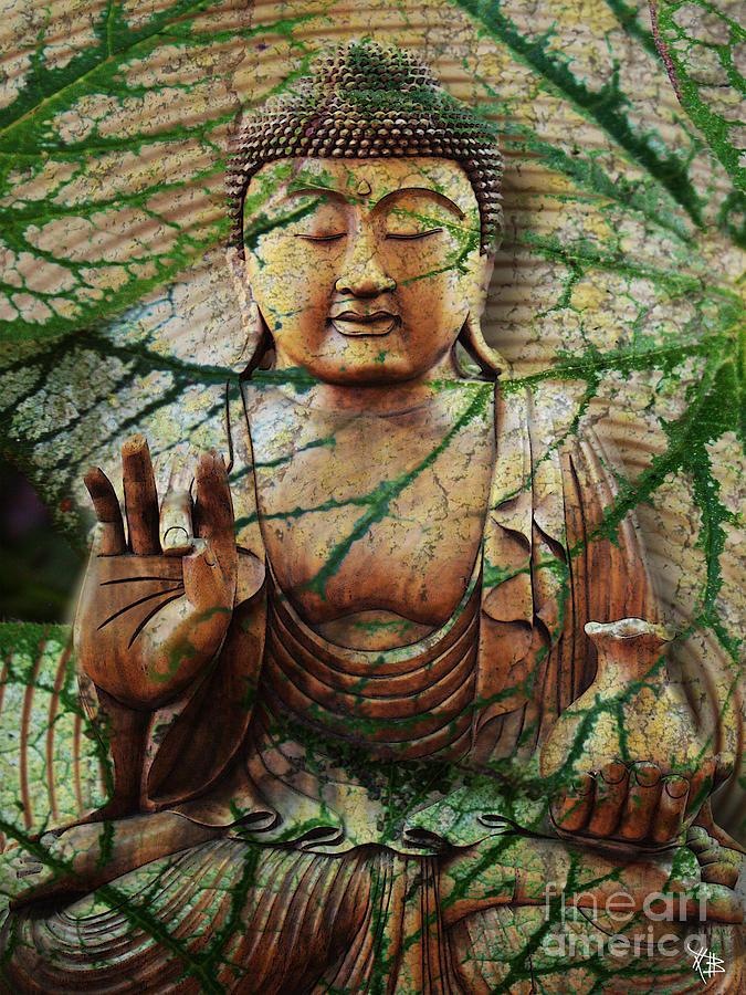Buddha Mixed Media - Natural Nirvana by Christopher Beikmann