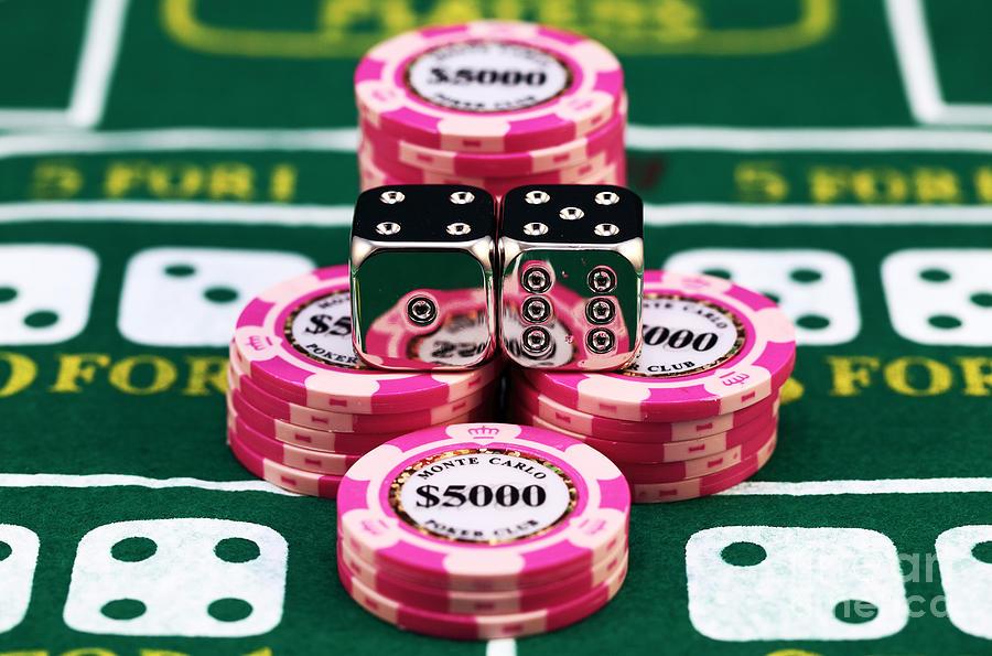 Gambling Photograph - Natural Seven by John Rizzuto