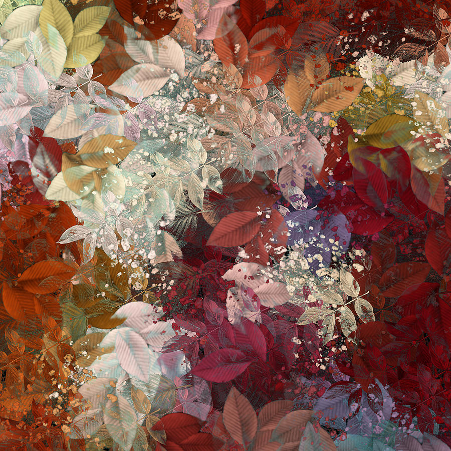 Abstract Digital Art - Naturaleaves - 88c02 by Variance Collections