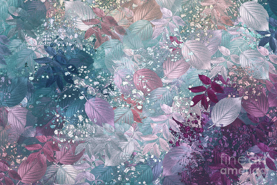 Abstract Digital Art Digital Art - Naturaleaves - S1002b by Variance Collections