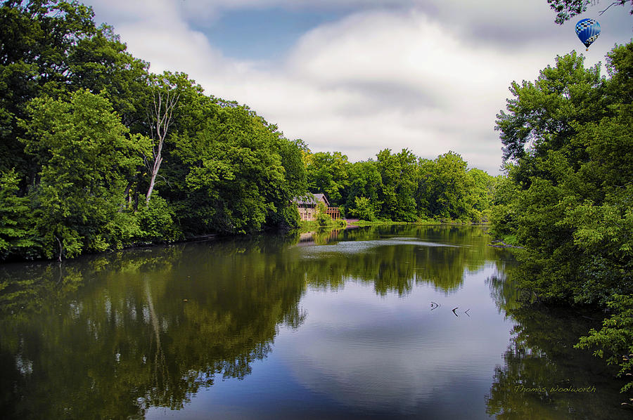Marsh Photograph - Nature Center On Salt Creek by Thomas Woolworth