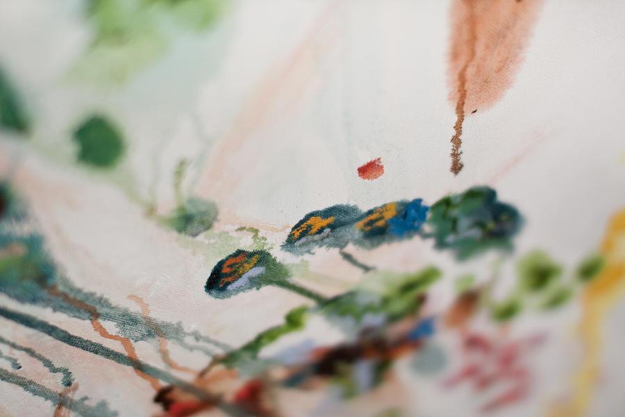 Chicago Painting - Nature Detail 2 by Vanessa Shinmoto