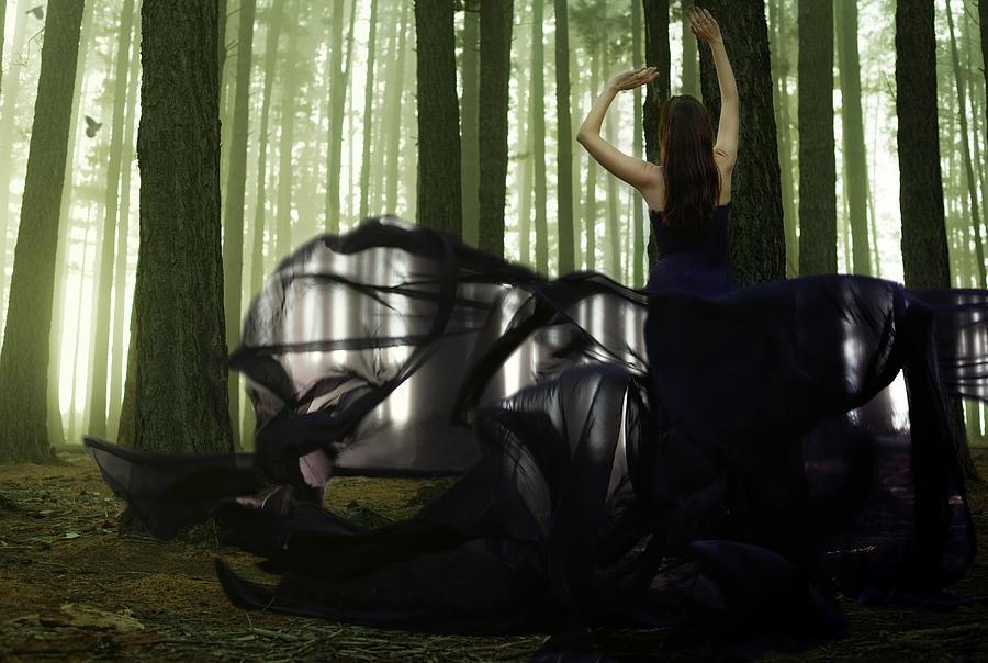 Landscape Pyrography - Nature Goddess by Fern Evans