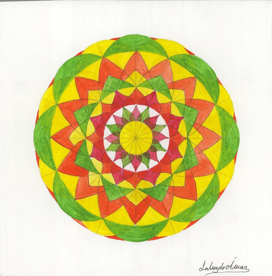 Mandala Painting - Nature Mandala by Silvia Justo Fernandez