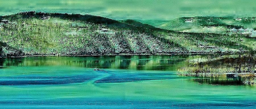 Table Rock Lake Photograph - Natures Artwork by Gordon W Miller