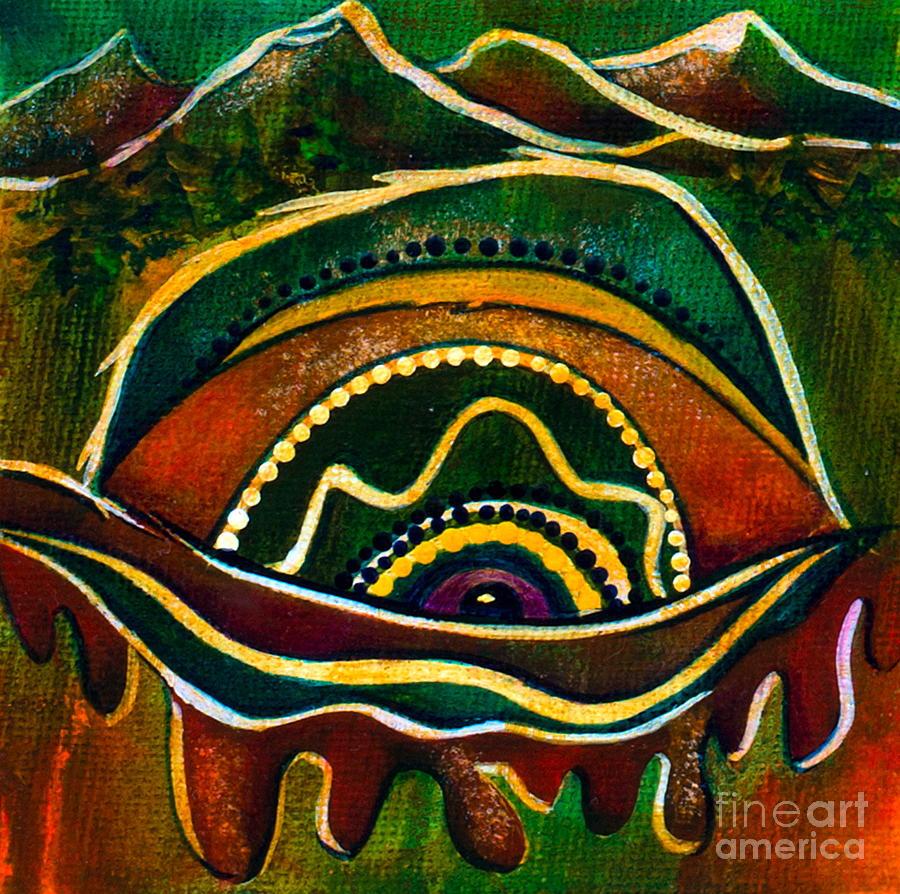Deborha Kerr Painting - Natures Child Spirit Eye by Deborha Kerr
