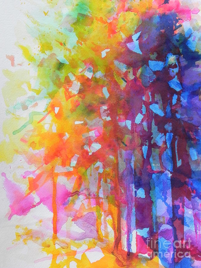 Fine Art Painting Painting - Natures Choice by Chrisann Ellis