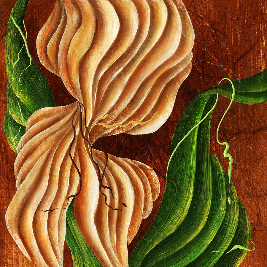 Abstract Painting - Natures Curves by Brenda Bryant