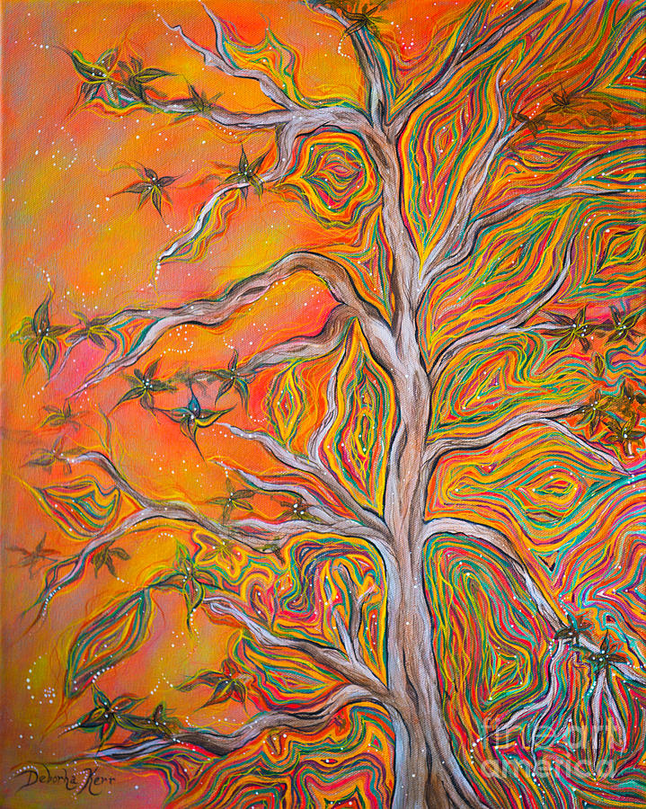Deborha Kerr Painting - Natures Energy by Deborha Kerr