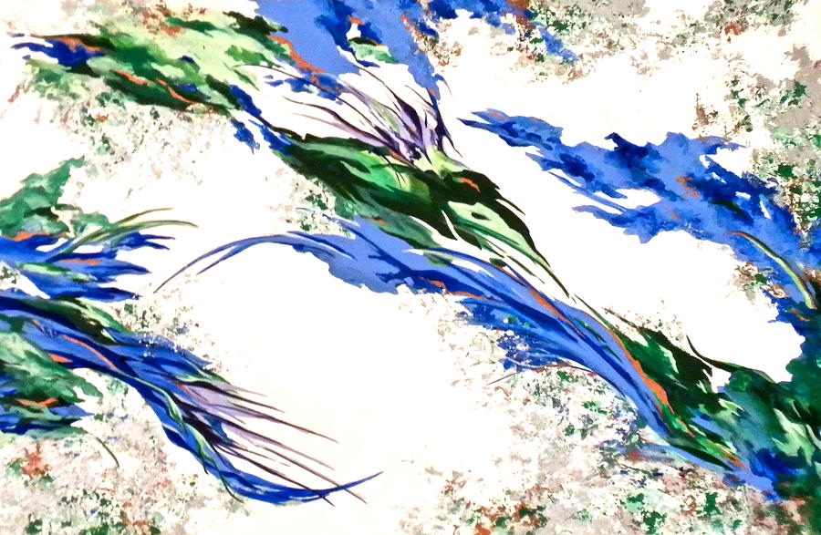 Abstract Painting - Natures Essence by Jan Law