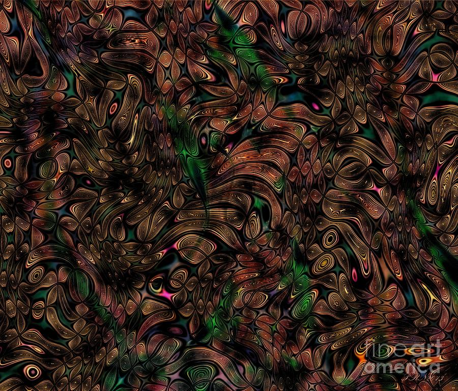 Abstract Digital Art - Natures Forest by Peter R Nicholls