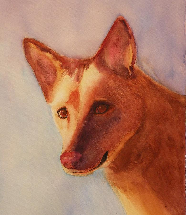Dog Painting - Naughty Or Nice? by Lori Chase