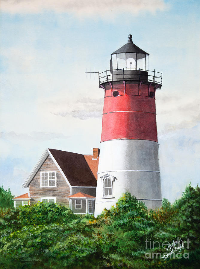 Nauset Lighthouse Painting - Nauset Beach Memories Watercolor Painting by Michelle Wiarda