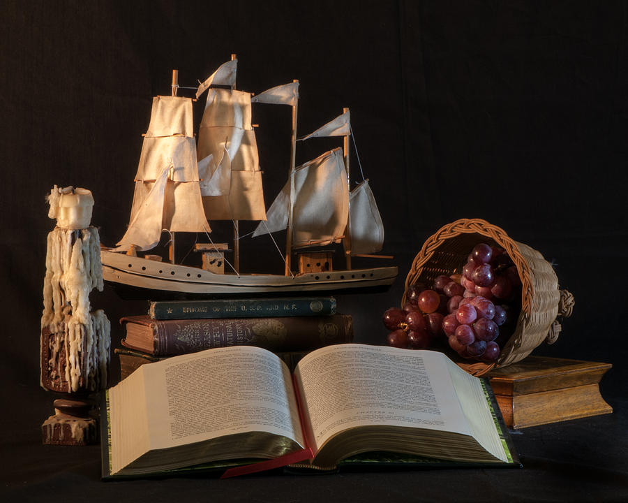 Nautical Still Life With Grapes Photograph