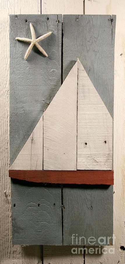 Wood Sculpture - Nautical Wood Art 01 by John Turek