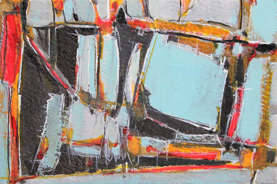 Abstract Painting Painting - Navajo Blanket And Morning Sky by Hari Thomas