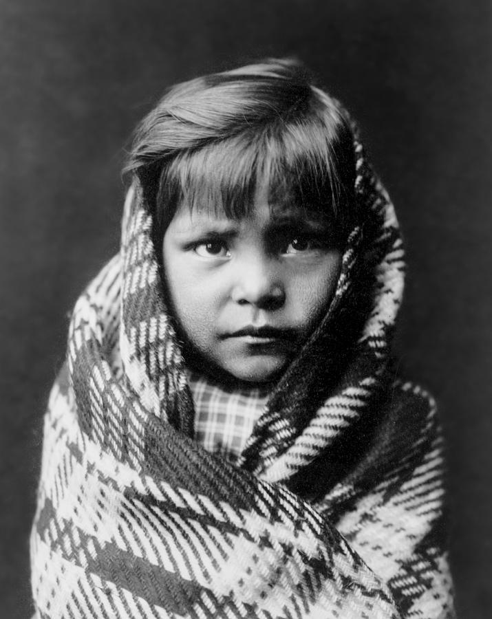 1905 Photograph - Navajo Child by Aged Pixel