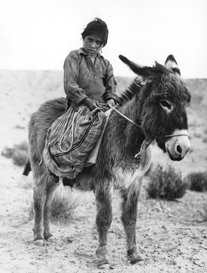 1935 Photograph - Navajo Herder by Underwood Archives
