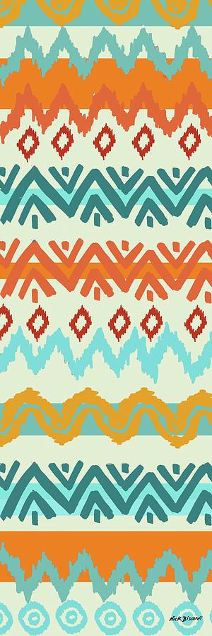 Navajo Digital Art - Southwest Pattern I by Nicholas Biscardi