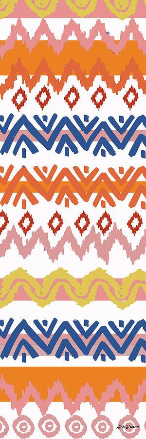 Navajo Digital Art - Southwest Pattern III by Nicholas Biscardi