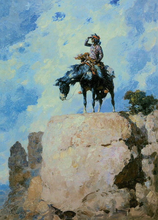 Navajo Scout Painting By William Robinson Leigh