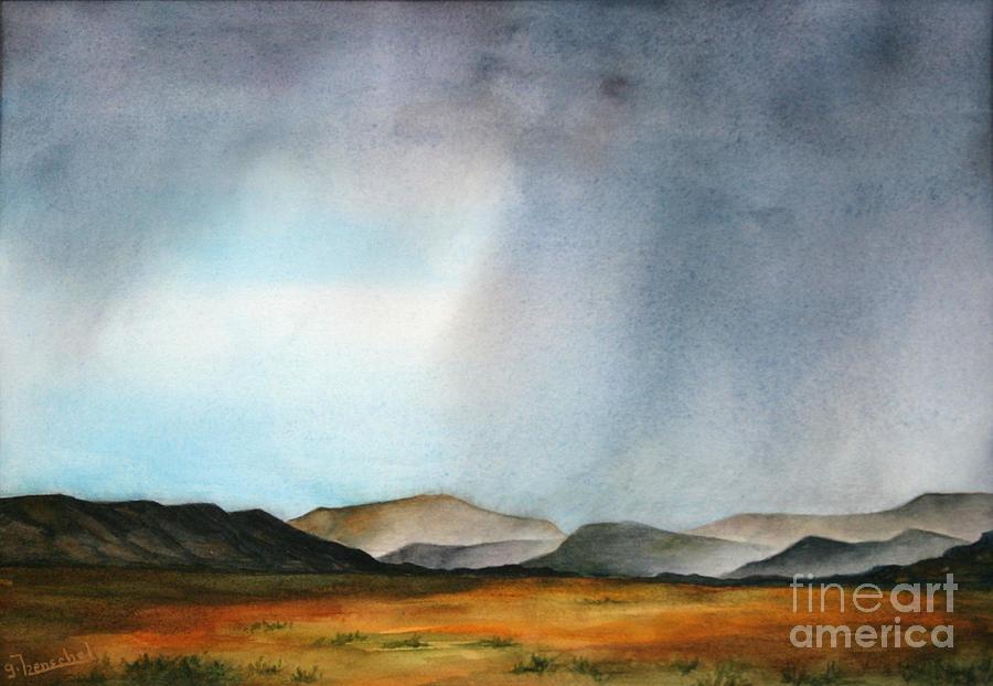 Navajo Storm by Glenyse Henschel