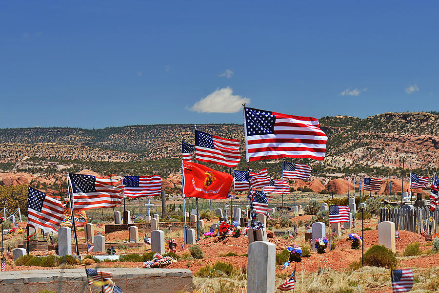Navajo Photograph - Navajo Veterans Memorial Cemetery Tsehootsooi by Christine Till