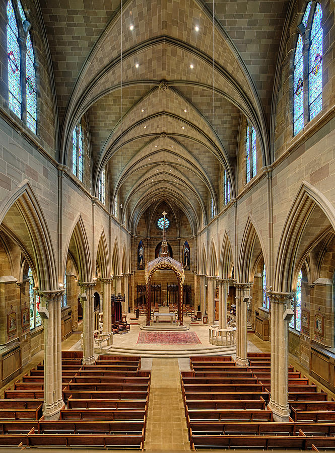 St Joseph Cathedral Photograph - Nave Iv by Dick Wood