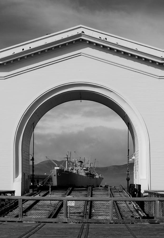 Ship Photograph - Navy Archway by Brooke Fuller